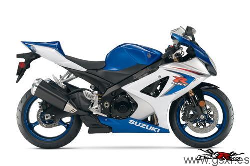 suzuki gsx-r 1000 2008 azul y blanco
