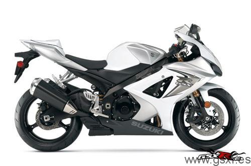 suzuki gsx-r 1000 2008 blanco y plata