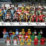 muñecos lego pilotos motogp