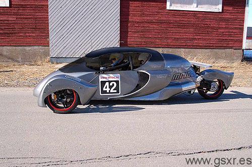 Mride t42 turbo 3 ruedas con motor suzuki GSX-R