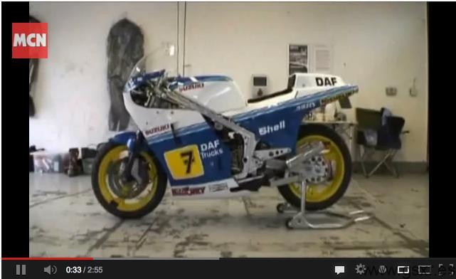 Video Suzuki RG500 Replica Barry Sheene
