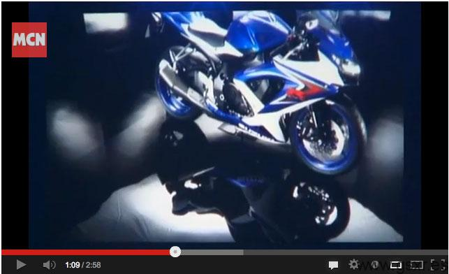 video presentacion suzuki gsxr 750 2008 paris