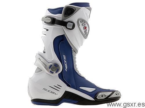 botas motos suomy extreme azul y blanca