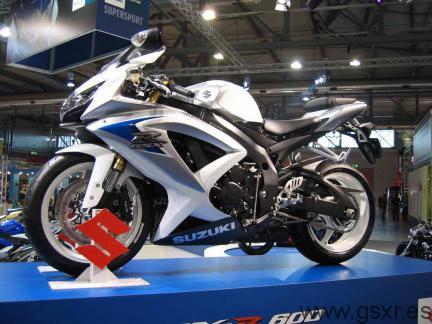 Moto Suzuki GSXR 600 2008 Stand de Suzuki Eicma 2007