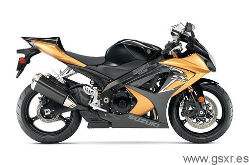 suzuki gsx-r 1000 2008 k8 black gold, negro y oro