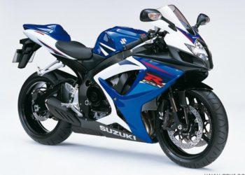 2007 Suzuki GSX-R 750 K7 Azul Profundo 2 / Blanco Cristal Jaspeado