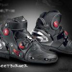 botas moto sidi streetburner negras