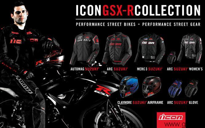 icon gsx-r collection: accesorios y ropa para moteros
