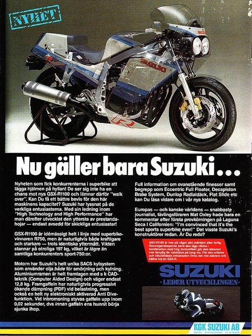 Anuncio 1986 Suzuki GSX-R 1100