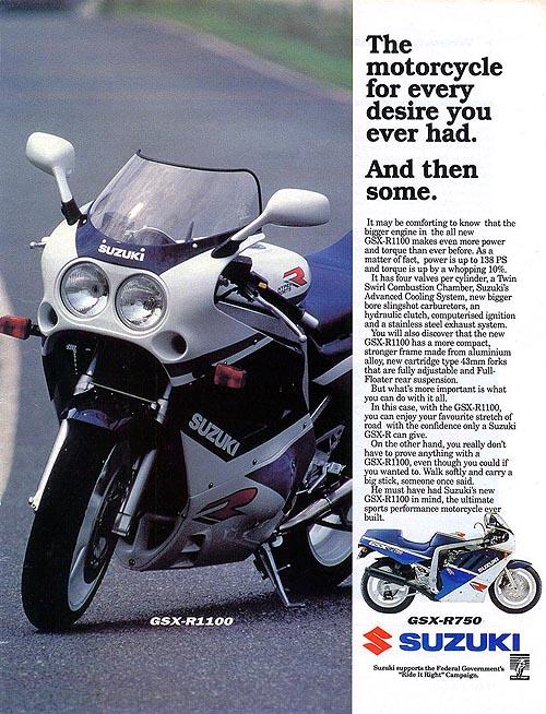 Anuncio 1989 Suzuki GSX-R 1100
