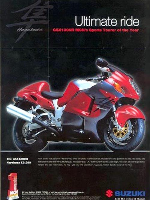 Anuncio 2000 Suzuki GSX-R 1300 Hayabusa