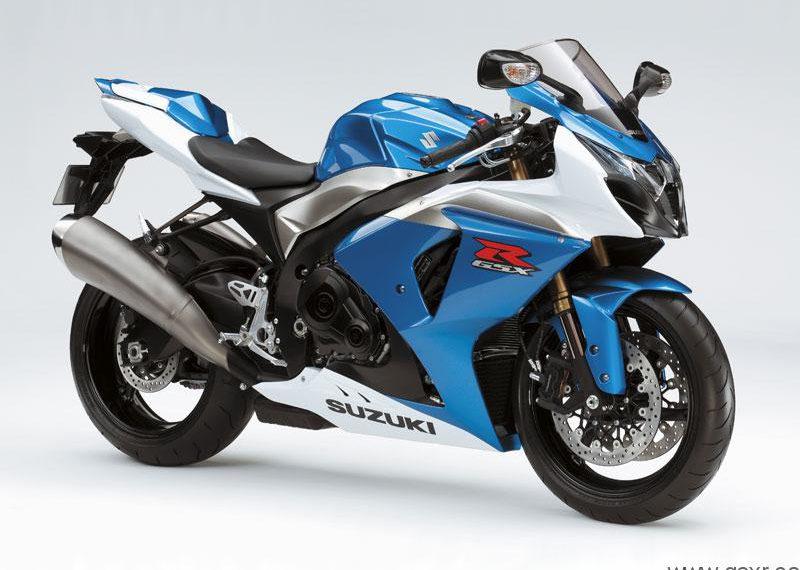 2009 Suzuki GSX-R 1000 K9 Azul Tritón Metalizado / Blanco Cristal Jaspeado