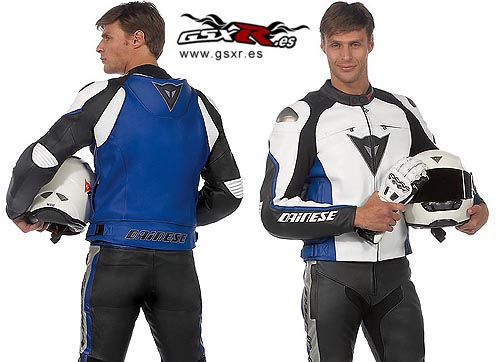 chaqueta moto delmar azul dainese