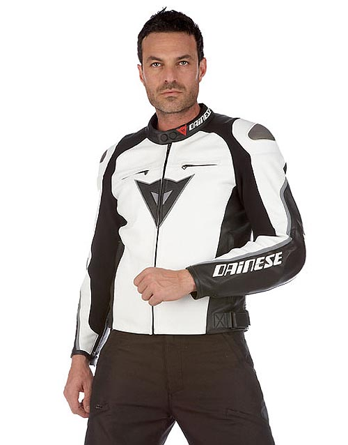 chaqueta moto delmar blanco dainese