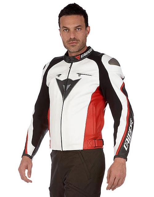 chaqueta moto delmar blanco rojo negro dainese