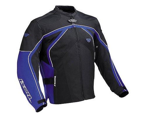 cazadora moto ixon carbonic negro azul