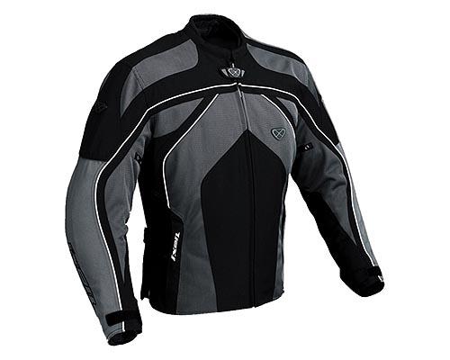 cazadora moto ixon carbonic negro gris