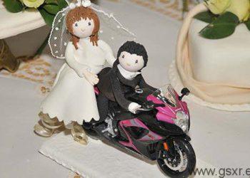 novios gixxers para tarta de bodas