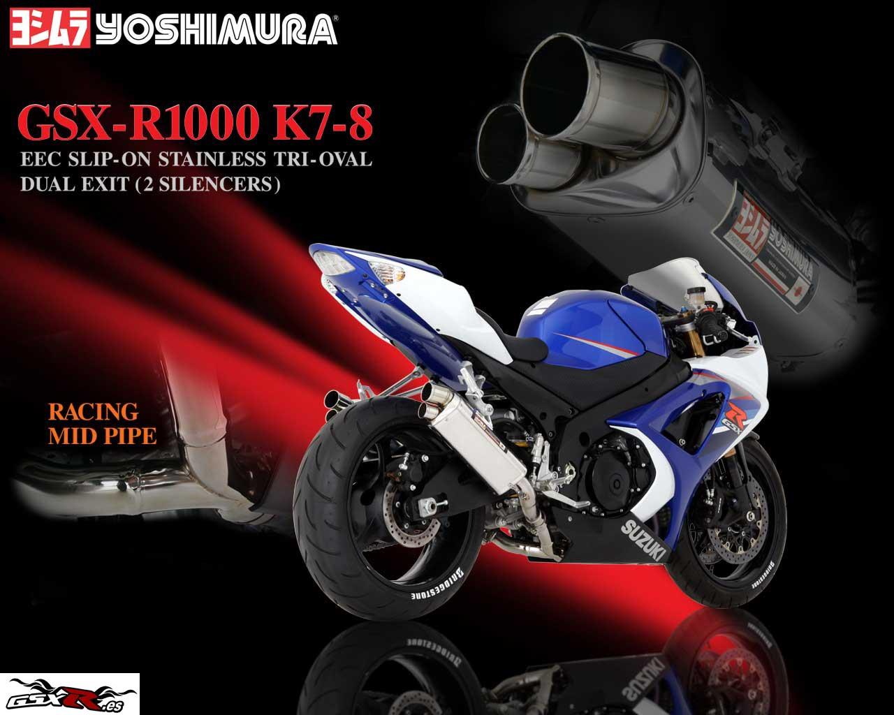 suzuki gsx-r 1000 2008 k8 escape yoshimura wallpaper fondo de escritorio