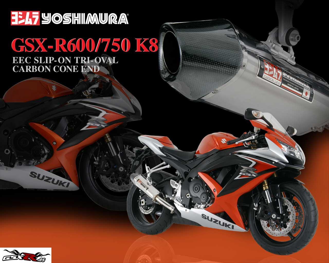 suzuki gsx-r 600 y 750 2008 k8 escape yoshimura wallpaper fondo de escritorio