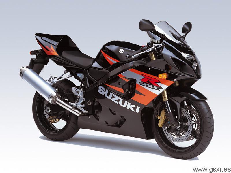 2004 Suzuki GSX-R 600 K4 Negro Solido y Naranja