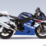 2004 Suzuki GSX-R 600 K4 Azul Profundo 2 / Blanco Cristal Jaspeado