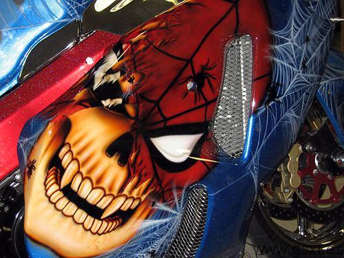 Suzuki GSXR 1300 Hayabusa Spiderman