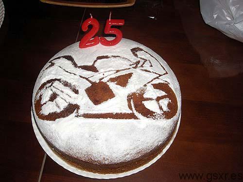 suzuki gsxr 600 2008 tarta cumpleaños