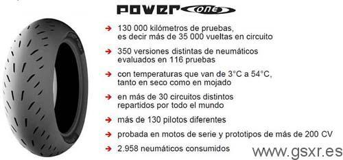 neumaticos michelin power one