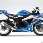 2009 Suzuki GSX-R 600 K9 Azul Tritón Metalizado y Blanco Cristal Jaspeado