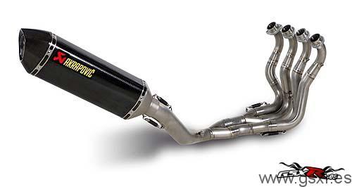 Suzuki GSX-R 1000 2009 escape simple y colectores akrapovic