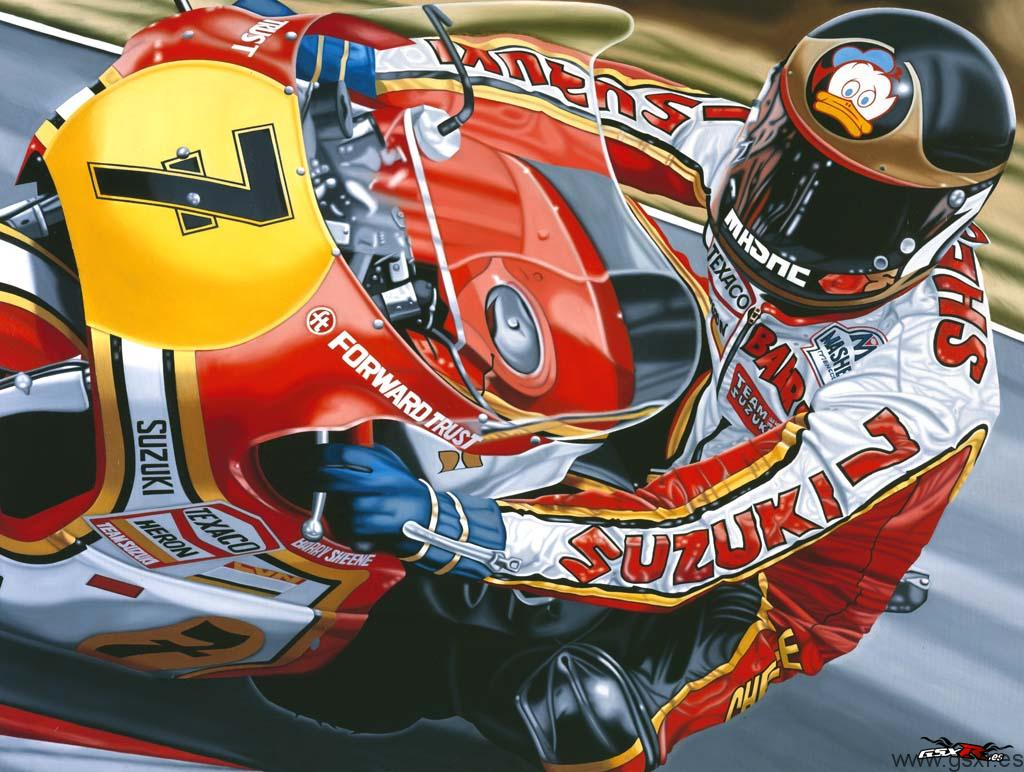 wallpaper barry sheene suzuki