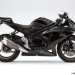 2009 Suzuki GSX-R 750 K9 Negro Sólido / Negro Mate Metalizado 2