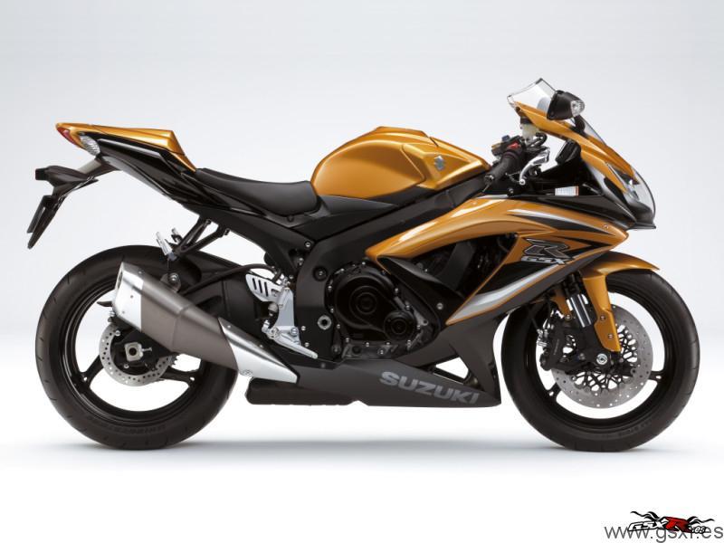 2009 Suzuki GSX-R 750 K9 Negro Solido / Majestic Oro Metalico