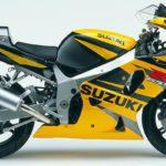 2002 Suzuki GSX-R 750 K2 Amarillo y Negro
