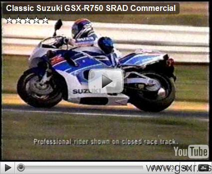 suzuki gsx-r 750 SRAD video anuncio
