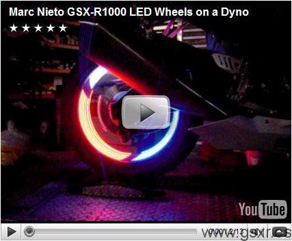 video luces leds suzuki gsx-r 1000 ruedas