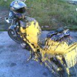 pintura motos accidente