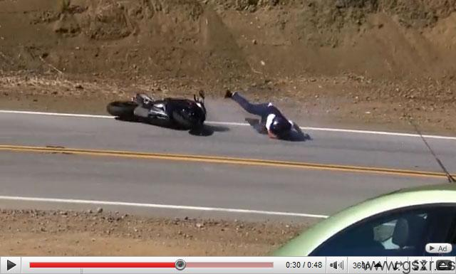 accidente moto suzuki gsxr 750 USA