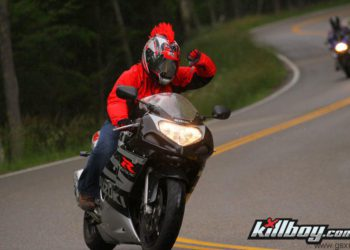 fotografia moto suzuki gsx-r en tail of the dragon