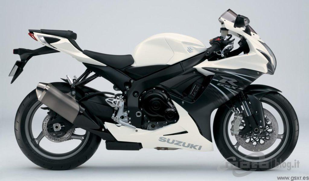Suzuki GSX-R 600 2011 Blanco y Negro