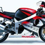 Suzuki GSXR 1000 2001 Rojo, Plata y Negro