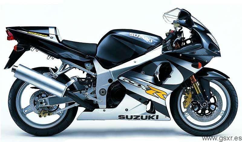 Suzuki GSXR 1000 2001 Negro y Plata