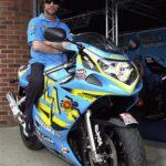 Jay Kay de Jamiroquai con su Suzuki GSXR 600 2003 Rizla
