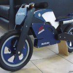 Suzuki GSXR bicicleta Kiddimoto madera para niños