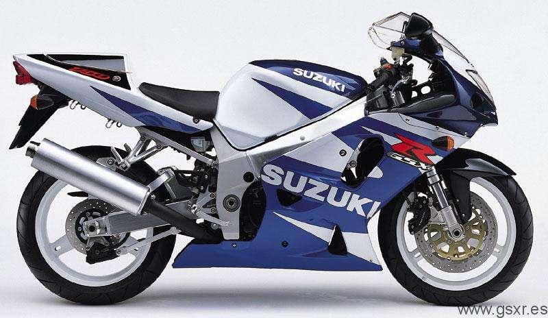 Suzuki GSXR 750 2001 Azul y Blanco