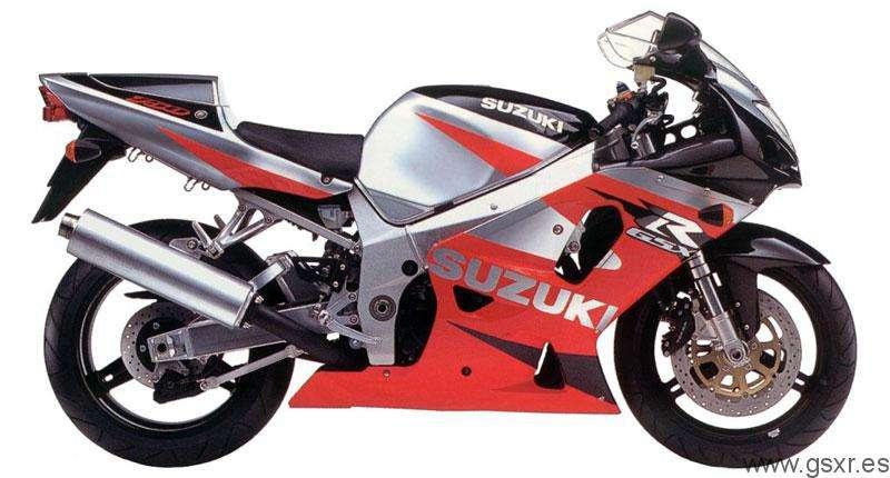 Suzuki GSXR 750 2001 Rojo, Gris y Negro