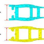 Subchasis menos ancho en las motos Suzuki GSXR 2011