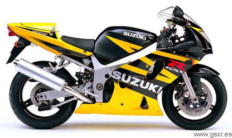 Suzuki GSXR 600 2003 Negro y Amarillo