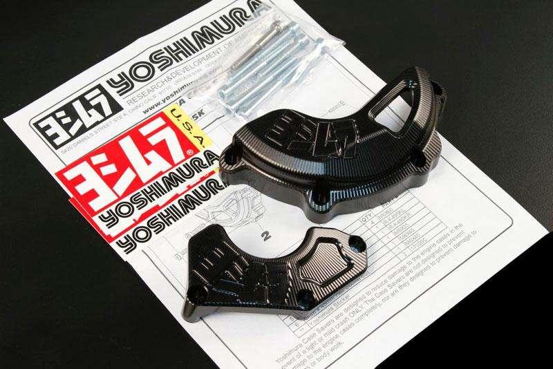 Carcasas Yoshimura anodizado negro para Suzuki GSXR 600 y Suzuki GSXR 750